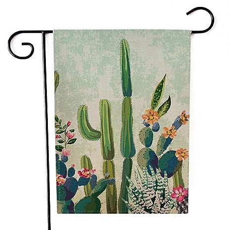 Woaixi Jardin Drapeau Cour Cactus Bienvenue Drapeaux Festival Menage