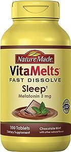 Nature Made VitaMelts Fast Dissolve Melatonin 3 mg. (Sleep) 100ct