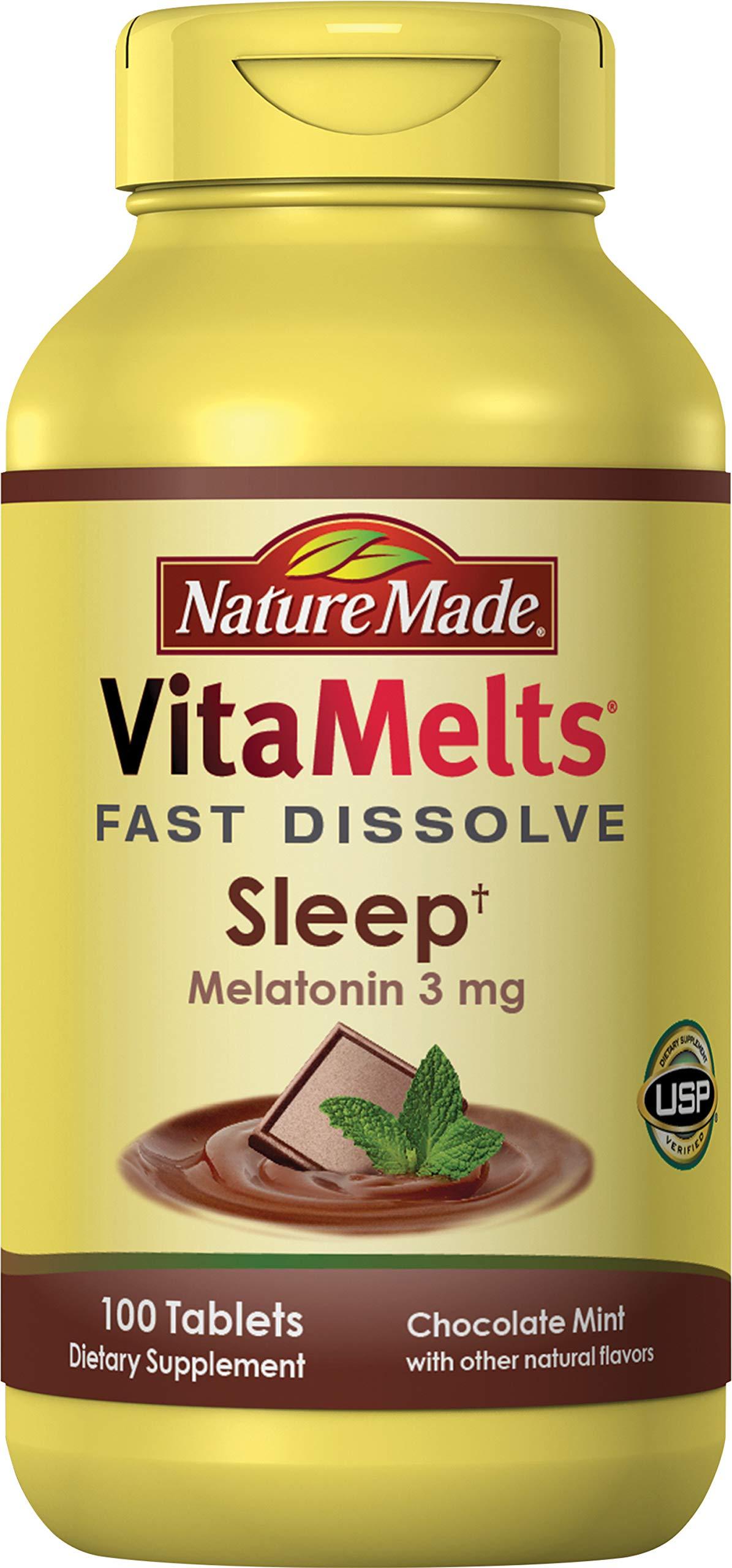Nature Made VitaMelts Fast Dissolve Melatonin 3 mg. (Sleep) 100ct by Nature Made