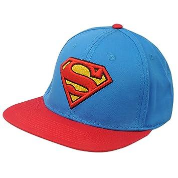 Unisex Logo-Kids Beanie, Blue (Azure Blue), One Size Superman