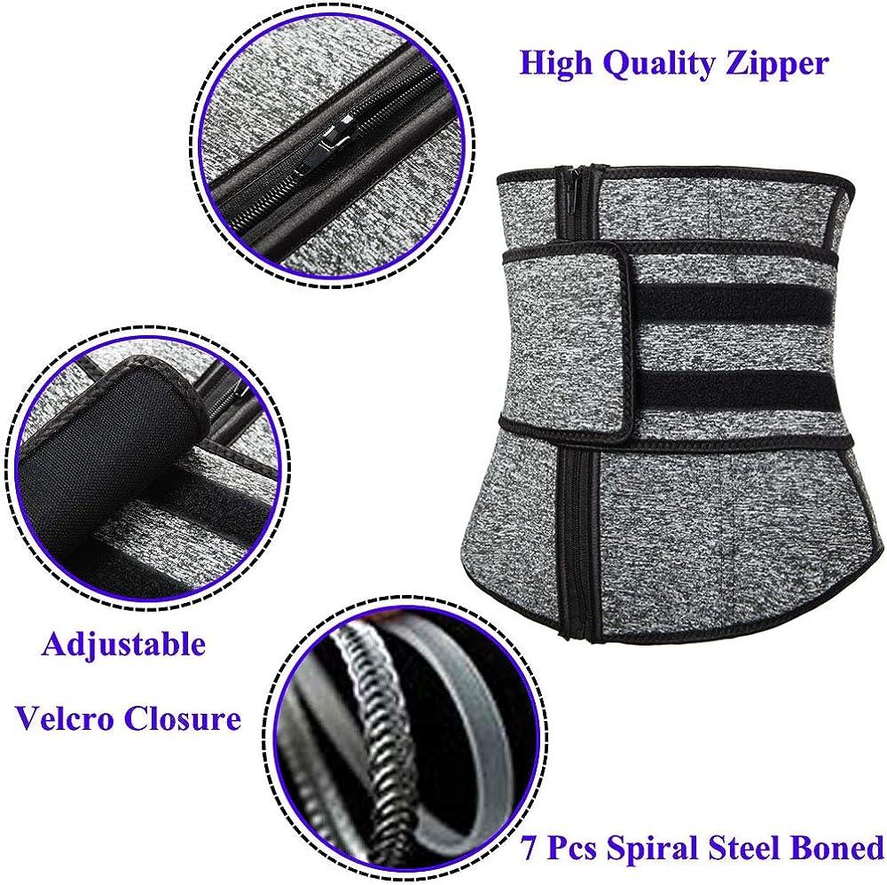 OMG/_Shop Womens Neoprene Sauna Belt Zipper Waist Trainer Cincher Corset for Weight Loss Body Shaper Workout Fitness