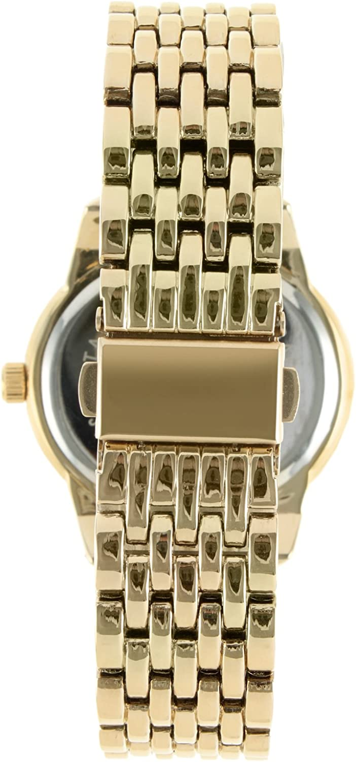 Peugeot 7089G Women's Crystal Accent Gold-Tone Multifunction Watch Gold