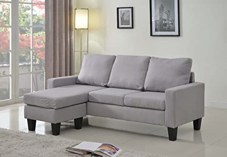 Home Life Linen Cloth Modern Contemporary Upholstered Quality Sectional  Left Or Right Adjustable Sectional Sofa,