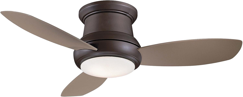 """Minka-Aire 44"""" LED FLUSH MOUNT CEILING FAN,Oil-Rubbed Bronze (LED Light)"""