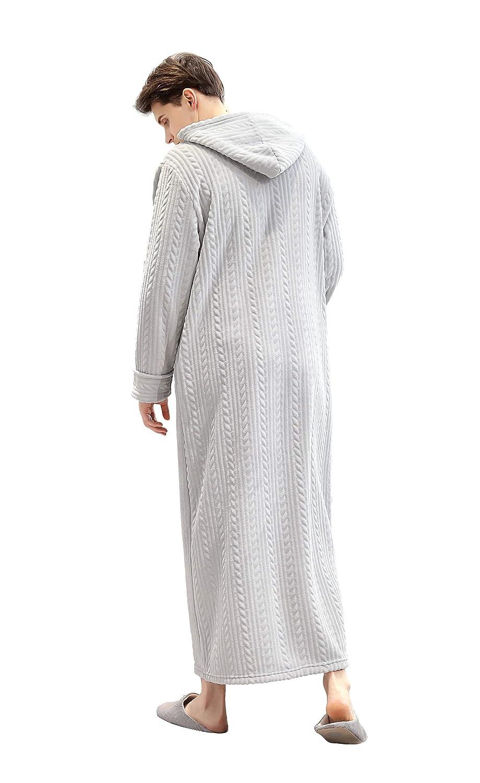 Westkun Unisexe Couple Dressing Gown Robe de Chambre Peignoir /à Capuche Complet zipp/ée Manteaux Longs V/êtements de Nuit Femmes /& Hommes-Cadeau Parfait