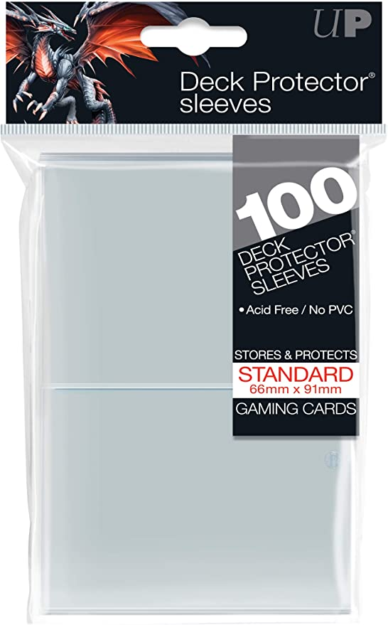 BLACK Standard Size Trading//Gaming Cards 100 Ultra PRO Deck Protector Sleeves