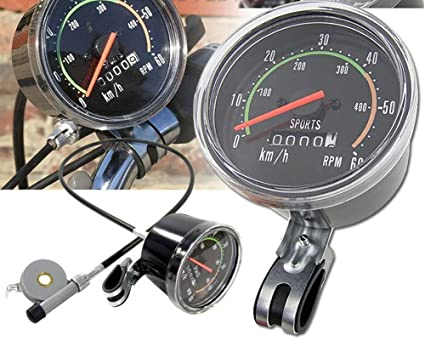Amazon com : Bicycle Analog Speedometer Odometer Cycling