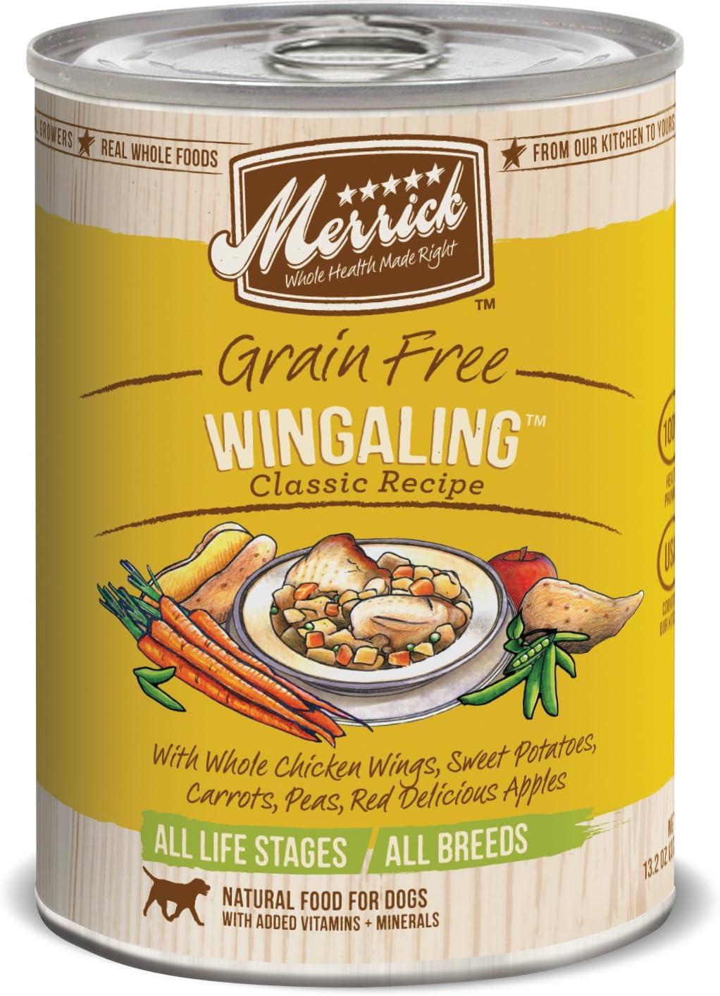 Merrick Classic Grain Free Wangling Wet Dog Food, 13.2 Oz, Case Of 12 Cans
