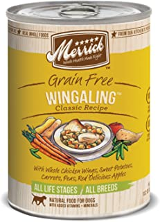 product image for Merrick Classic Grain Free Wangling Wet Dog Food, 13.2 Oz, Case Of 12 Cans
