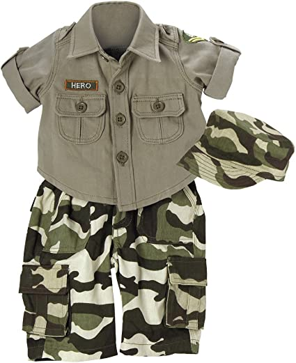 Camouflage T-shirt /& Pants Set For  18inch Doll Outfit Clothes