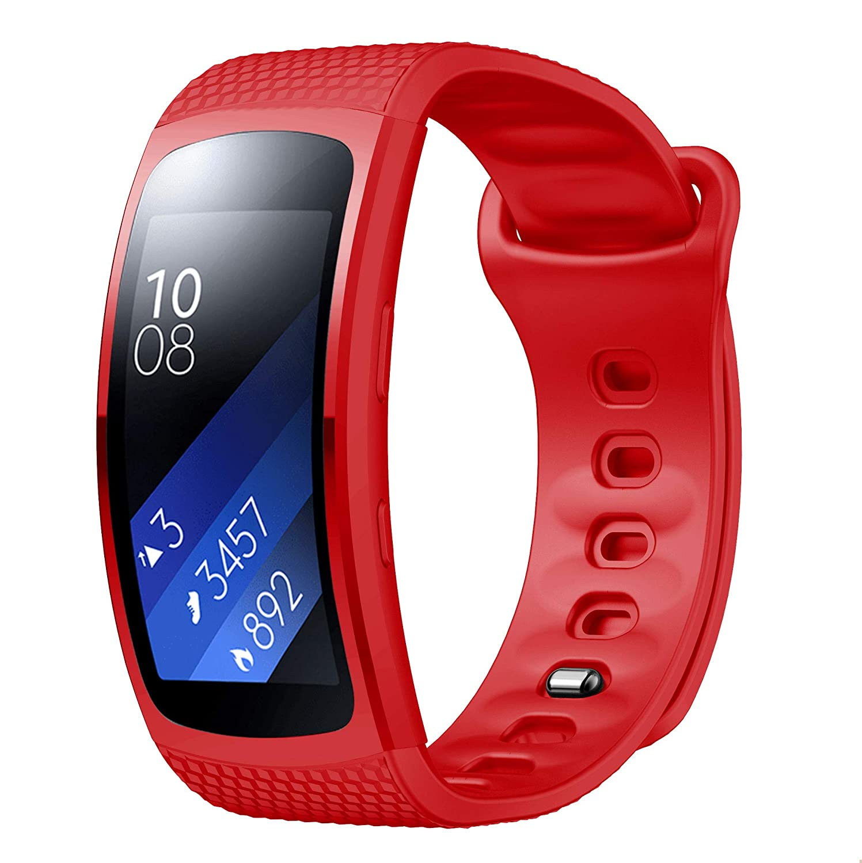 YaYuu Gear Fit 2 Pro/Fit 2 Armband, Ersatz Verstellbare Uhrenarmbänd Fitness Tracker Silikon Sports Armband für Samsung Gear Fit 2 Pro SM-R365 and Gear Fit 2 SM-R360 GPS Laufuhr YaYuu Unisex Youth Sport010 B NO