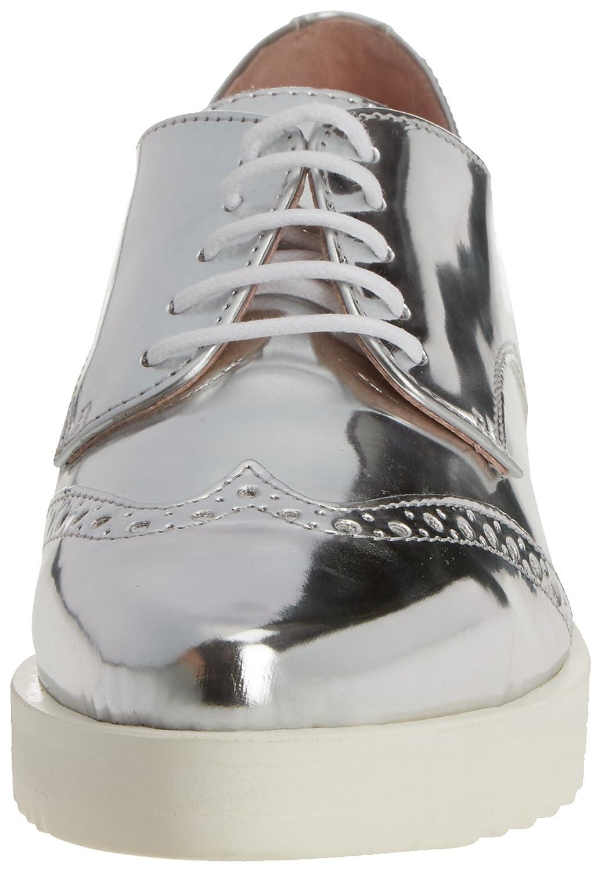 Blucher Top, Zapatos de Cordones Oxford para Mujer, Plateado (Argento), 36 EU Cuplé