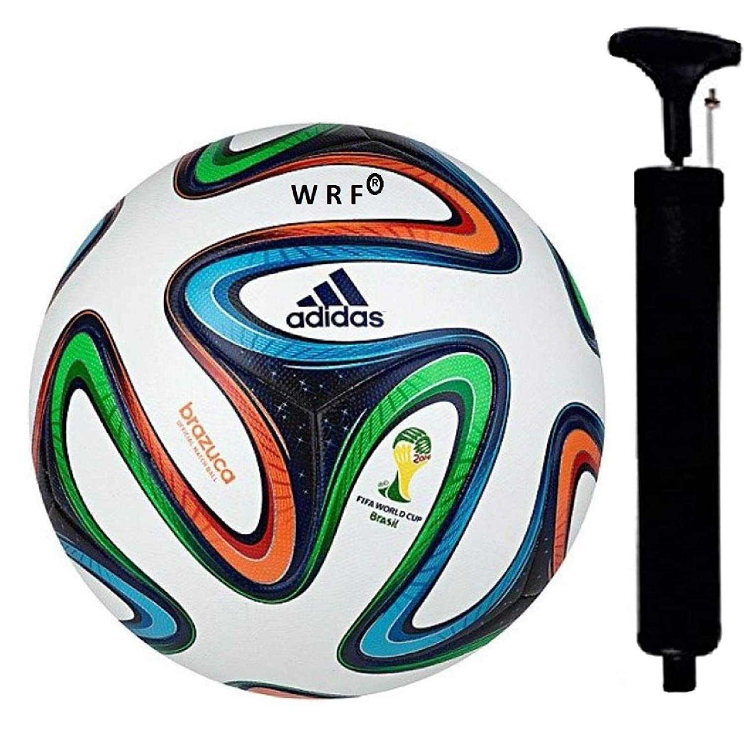 WRF Brazuca PU Football, Size 5,  Multicolour  Match Balls