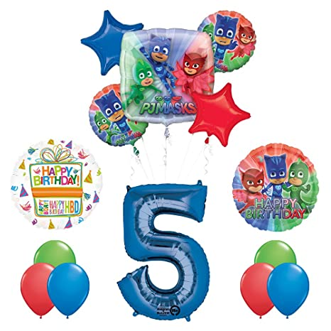 Image Unavailable Not Available For Color The Ultimate PJ MASKS 5th Birthday Party Supplies