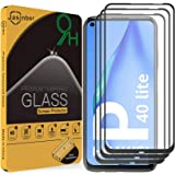 Jasinber 3 Piezas Mica Vidrio Cristal Templado Protector de Pantalla para Huawei P40 Lite (Negro)