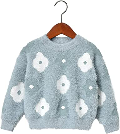 Amazon.com: Baby Girls Sweaters Kids Winter Sweater for Girl Long Sleeve  Flowers Knitwear Pullover Outerwear: Clothing