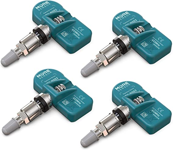 Set of 4 MAX MXSA001 TPMS 433mhz Tire Pressure Sensors for Chrysler Dodge Jeep Replaces 68313387-AB 68313387AA 68252493AB w//Matte Black Aluminum Valve Stems