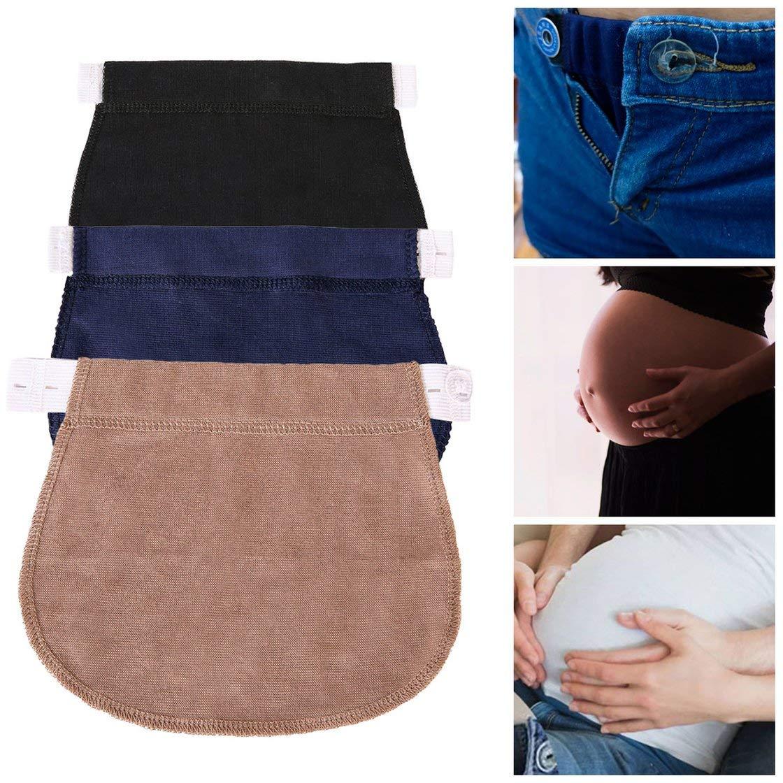 Gwendoll Maternit/é Grossesse Ceinture Ceinture R/églable /Élastique Taille Extender V/êtements Pantalon pour Enceinte