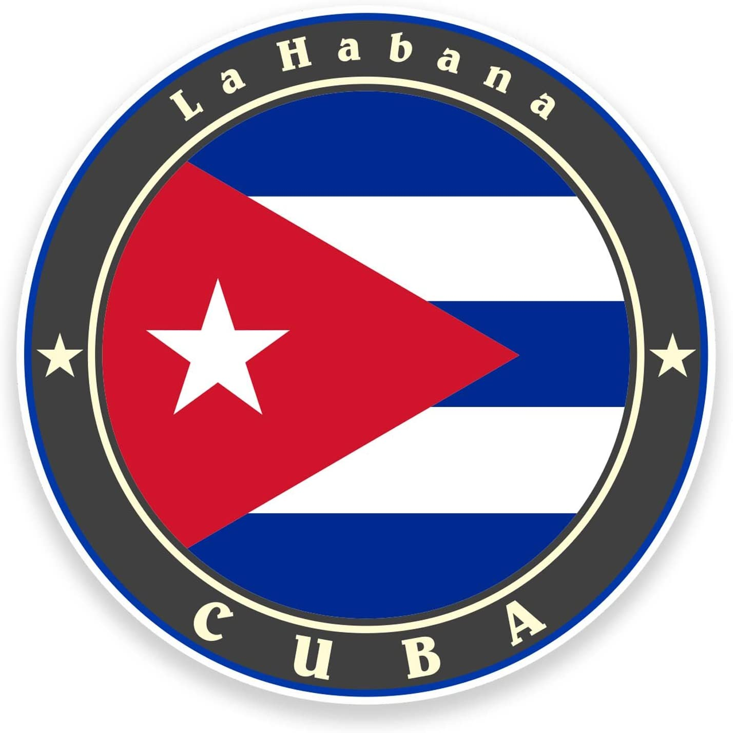2 x 10 cm Cuba bandera vinilo autoadhesivo coche bicicleta para ...