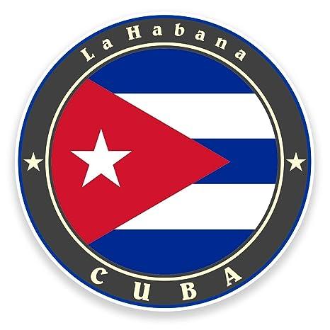 2 x 10 cm) Cuba bandera vinilo adhesivo coche bicicleta para ordenador portátil viaje equipaje