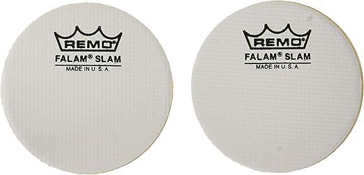 """Single Kick Slam 2 Pack 2.5/"""" Diameter Remo Patch FALAM®"""