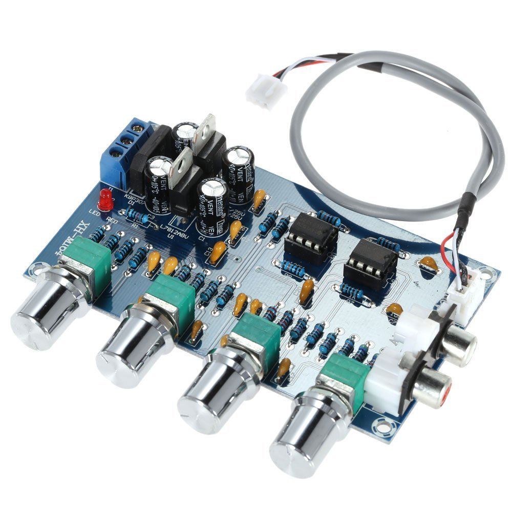 Wingoneer Ne5532 Stereo Pre Amp Preamplifier Tone Board Note These Are Passive Controls Components In A Audio 4 Channels Amplifier Camera Photo