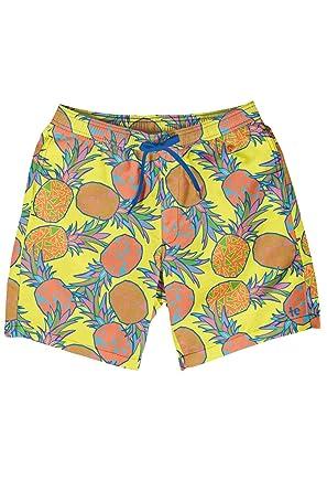 2e764eb6f9 Tipsy Elves Men's Short Swim Trunks - Bright Neon Board Shorts for Vacation  (Pina Colada