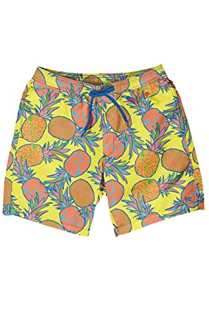 6aa7280c8859d Tipsy Elves Men's Short Swim Trunks - Bright Neon Board Shorts for Vacation  (Pina Colada
