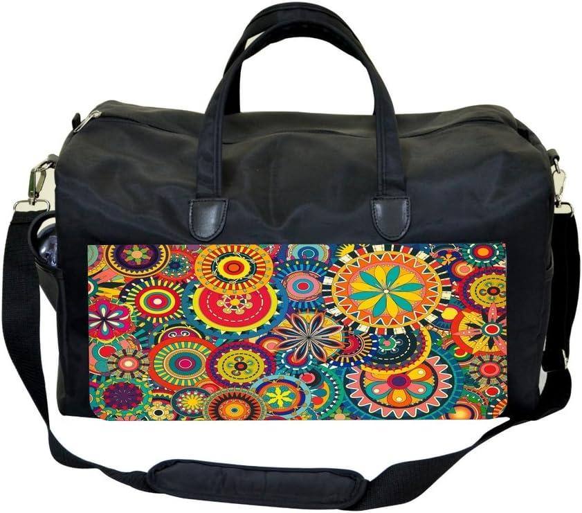 Flower Circles Sports Bag