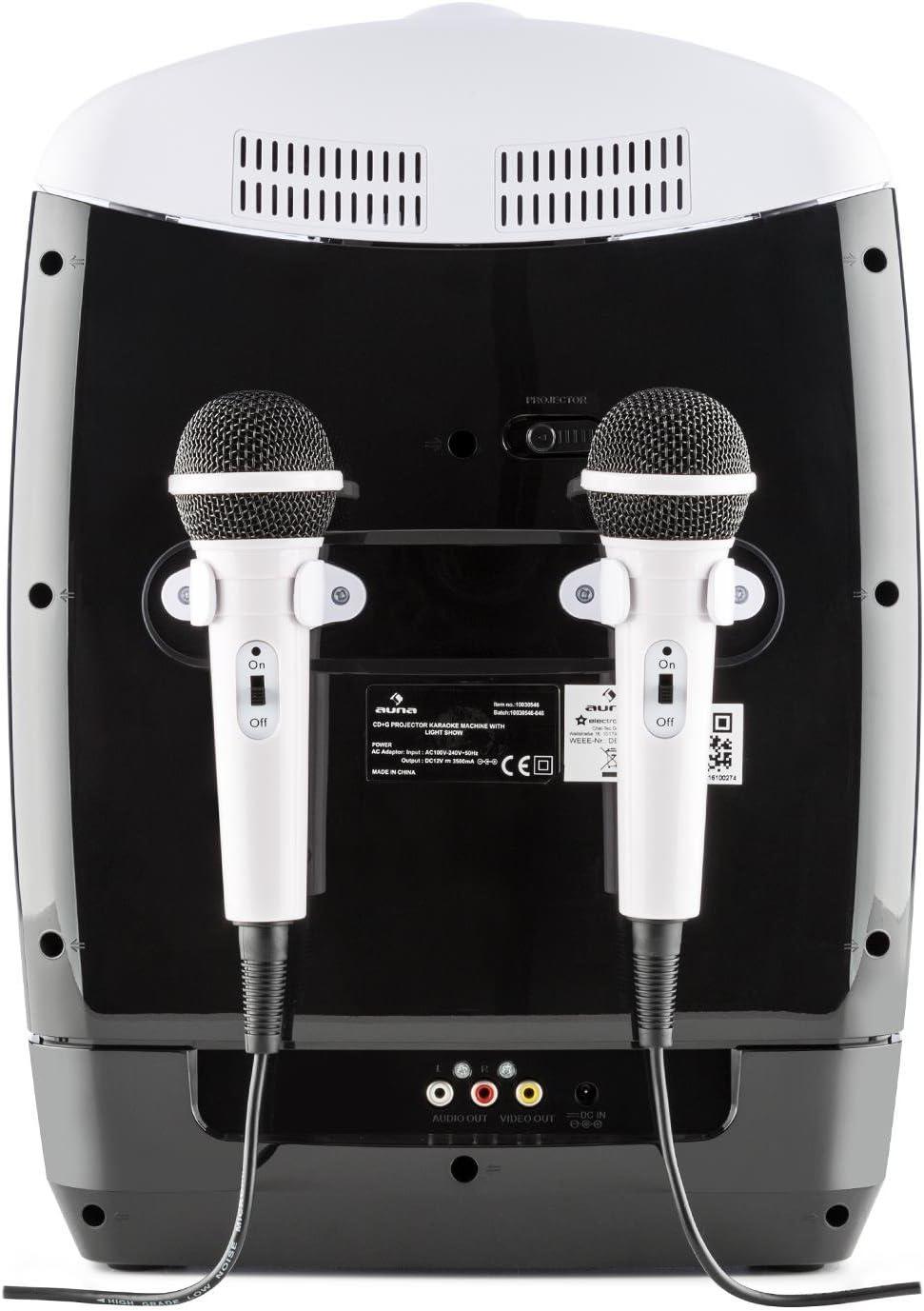 AUNA Kara Projectura - Set Karaoke, proyector Video LCD , 2 ...