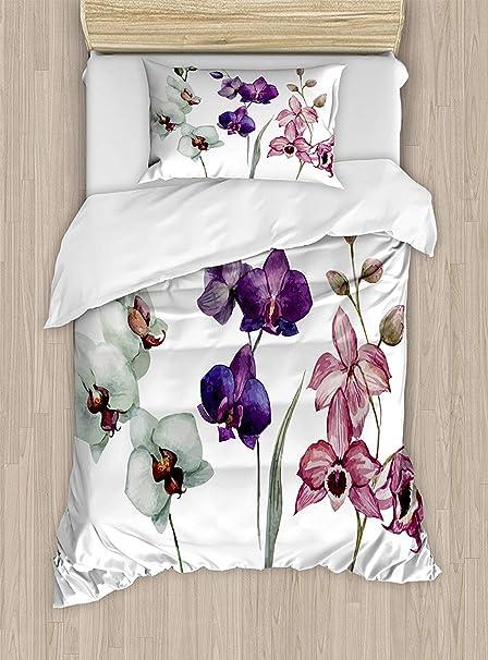 Copripiumino Orchidea.Soefipok Copripiumino Fiore Acquerello Diverso Tipo Di Fiore