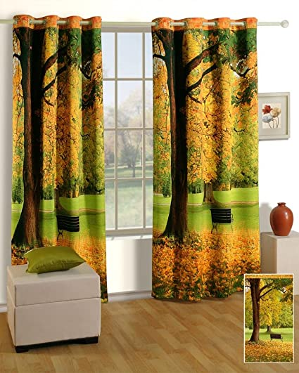 Swayam Curtain Concept Printed Premium Cosmo Fashion Window Curtains