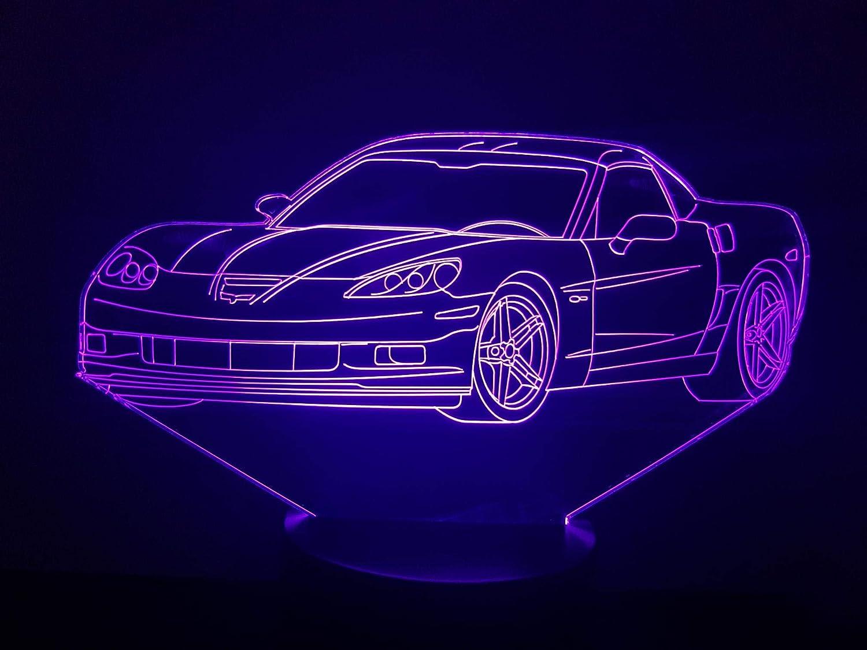 Lampe 3D Motif: Chevrolet Corvette 2004