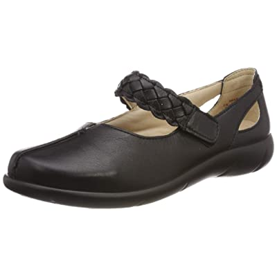 Hotter Women's Shake Wide Fit Mary Jane Shoe Leather Touch Fastening Adult Mary Jane Casual Mary Jane | Flats