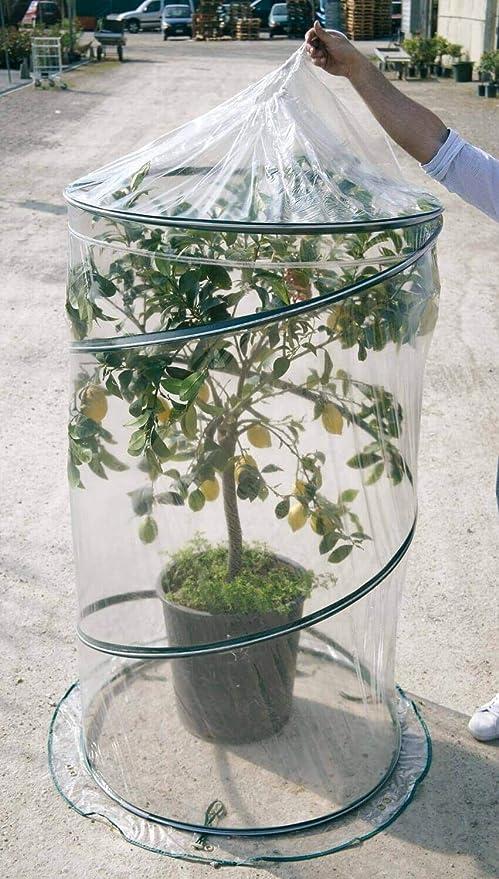 Serre de jardin avec syst/ème pop-up /ø90/cm Rama Citrus Vert
