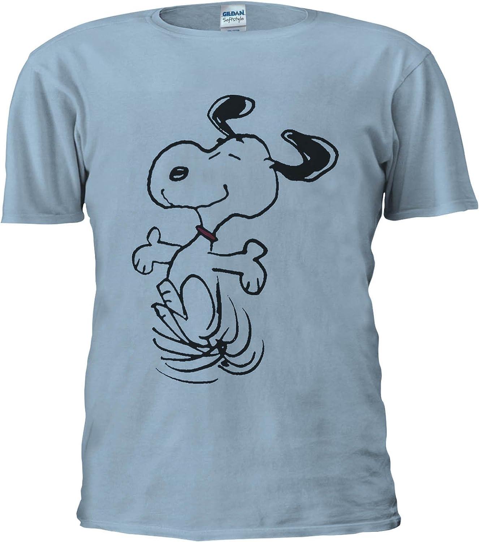 NisabellaLTD Snoopy Peanuts Cartoon Happy Cute White Women T Shirt Top