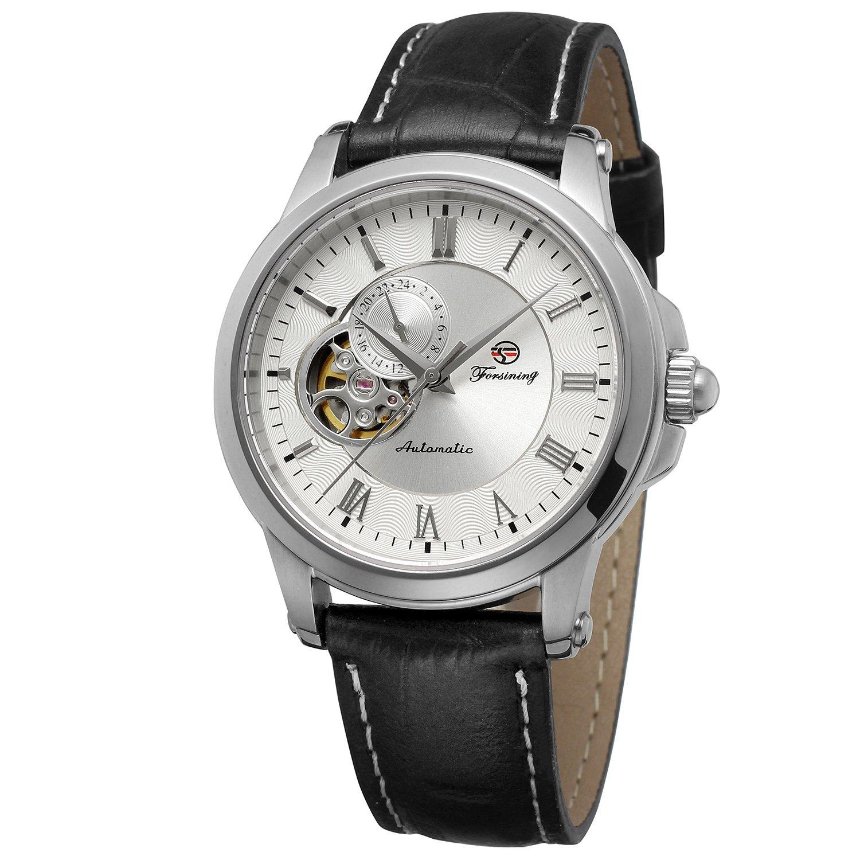 FORSININGメンズステンレススチールCase自動移動アンティークTopブランドレザー腕時計fsg9416 m3s2 B0728KX3S6