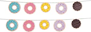 Fun Express - Donut Party Garland for Birthday - Party Decor - Hanging Decor - Garland - Birthday - 1 Piece