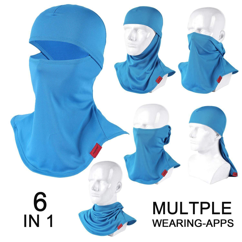 QINGLONGLIN Balaclava Full Face Mask Motorcycle Helmet Liner Breathable Multipurpose Outdoor Sports Wind Proof Dust Head Hood