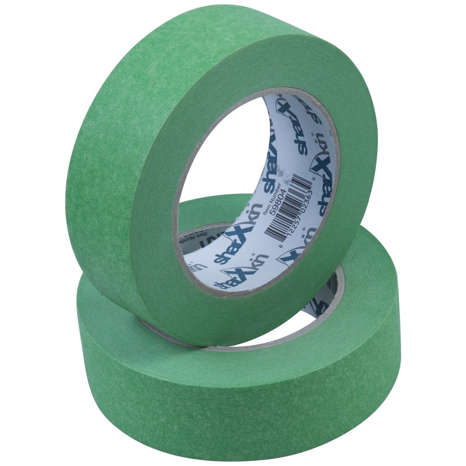 """24-Units per Box Sharxkin Masking Tape in Green for Automotive Car and Home Painting Projects Leaves No Residue on Steel Glass Plastic and Rubber with Multiple Sizes Available (1 ½"""" x 60 Yards)"""