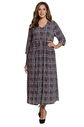 f4e7bd63b4b Ulla Popken Women s Plus Size Soft Jersey Fun Print Maxi Dress Plaid Multi  40 42
