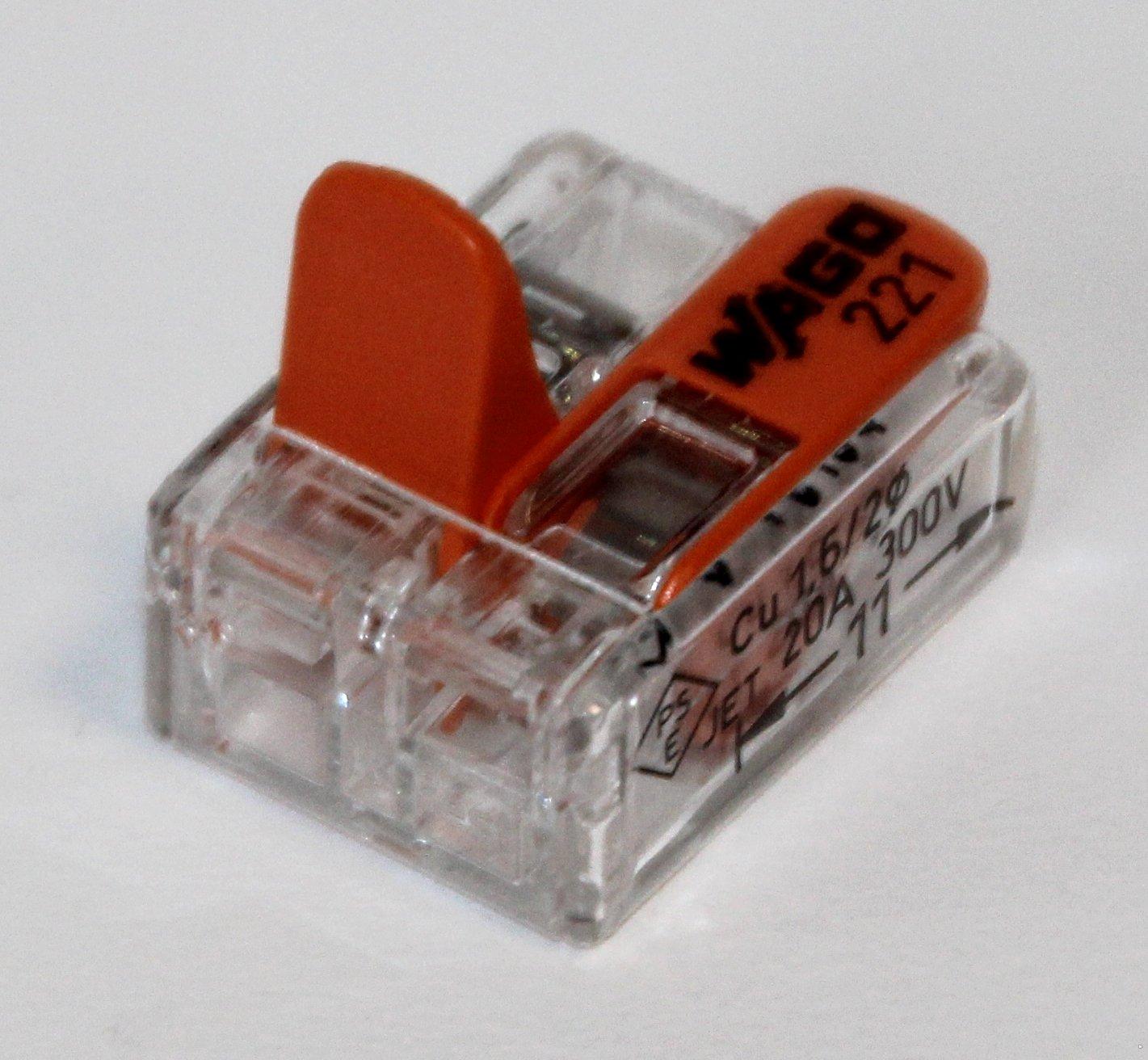 - Avec bo/îte refermable Wago 221 25 x 221-412, 25 x 221-413, 25 x 221 415 Set de 75 connecteurs de c/âble