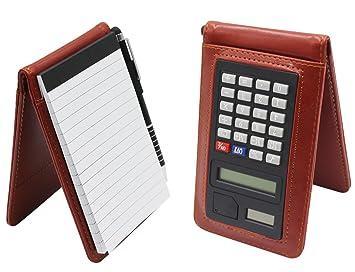 amazon メンズpuレザーのノートブックビジネススタイルmemo pad holder