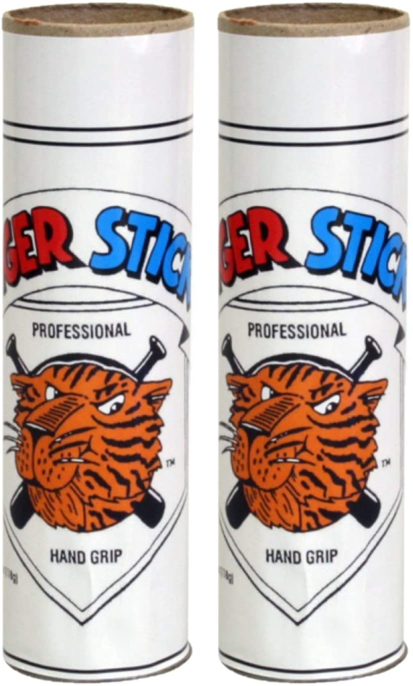 Ideal for Baseball Softball 4.25oz Each Lacrosse Golf No Stain Surfing No Smell - Double Pack Bat Wax Grip Tiger Stick Original Bat Grip Two Pack