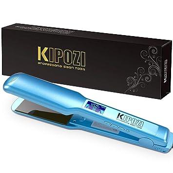 Amazon.com: KIPOZI Pro Nano Titanium alisador de cabello de ...