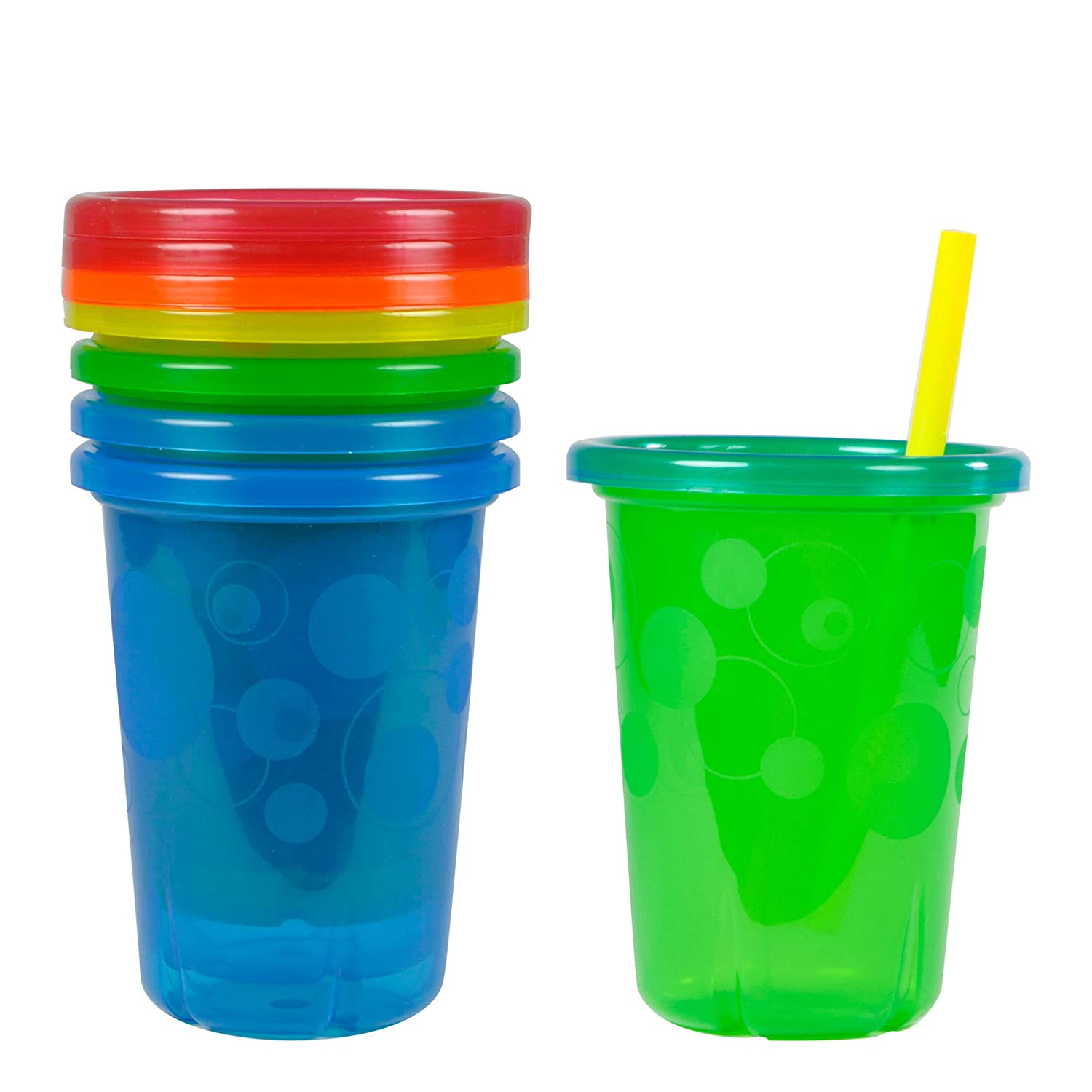 The First Years Take and Toss 4 Count Straw Cups, 10-Ounce Y1157V1