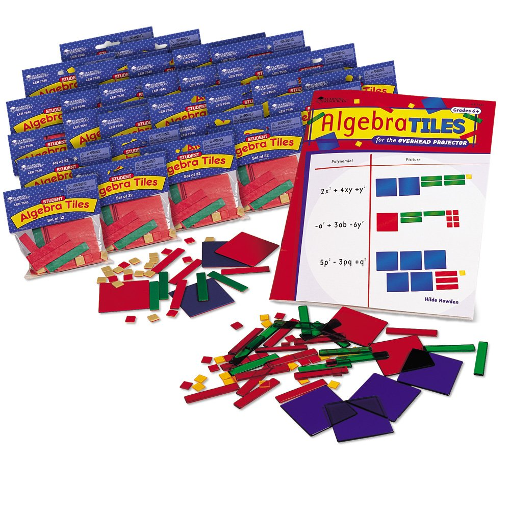 Learning Resources Algebra Tile Class Set by Learning Resources