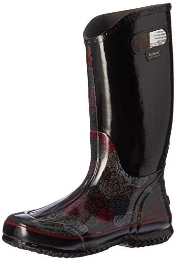 Bogs Womens Rosey Rain Boot       Black Multi