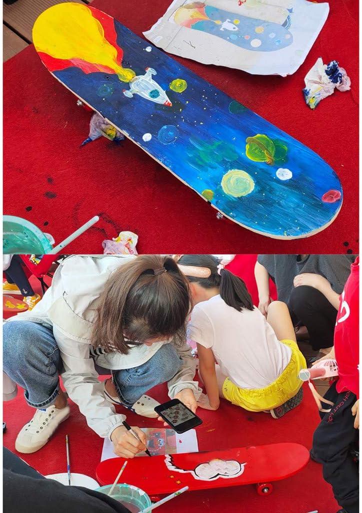 nobran Skateboard complet en bois pour enfants 43 cm