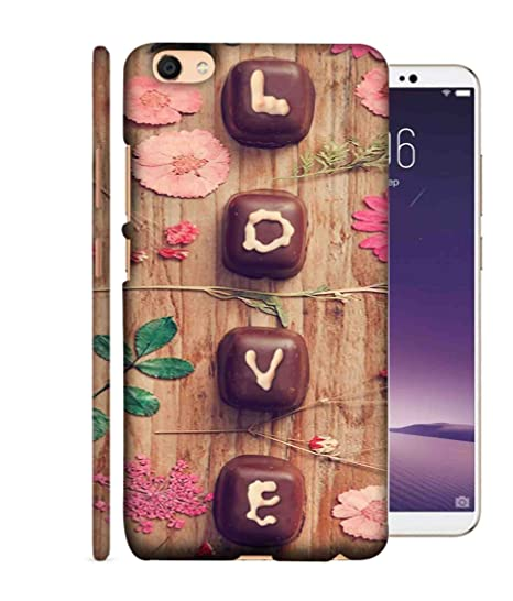 the latest 91e5c 8d0a2 Printfidaa Oppo A71 Back Cover Chocolate with Love: Amazon.in ...